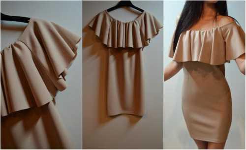 Как сшить платье с воланом