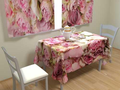 Скатерть с розовыми цветами своими руками